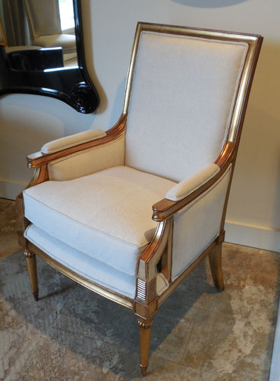 The Jacob chair by Alden Parkes is offered in large and small sizes. Retail for the smaller size, shown here, is $699.