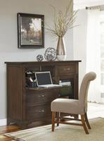 PROGRESSIVE FURNITURE - The Saddleback collection includes this chesser, which is made with mahogany veneers in a rustic, heavily distressed finish.