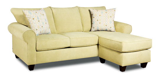 AMERICAN FURNITURE MANUFACTURING - American's 3300 Chaise sofa with correlate pillows offers versatile seating with a nod to traditional style. Retail is $599.
