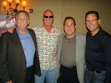 Roger Magowitz, left, Mattress Firm, Houston; Jim McMahon, former quarterback for the Chicago Bears; Glenn Haneberg, Back To Bed, Itasca, Ill.; Mark Quinn, Leggett & Platt.