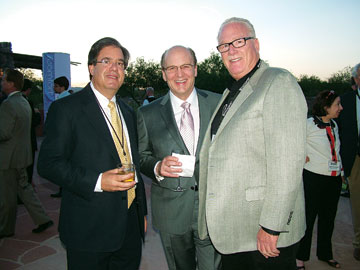 Kevin Castellani, left, Furniture/Today; Bob Sherman, Serta International; Eric Spitzer, Spring Air.