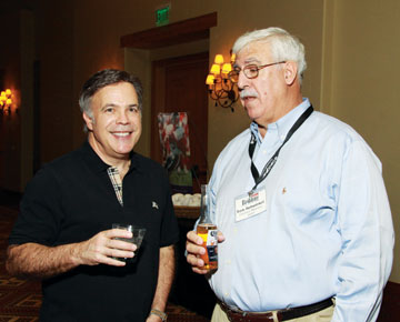 Gerry Borreggine, left, Therapedic; Tom Rehwinkel, Carolina Mattress Guild.