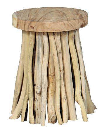 Driftwood stool from Furniture Classics