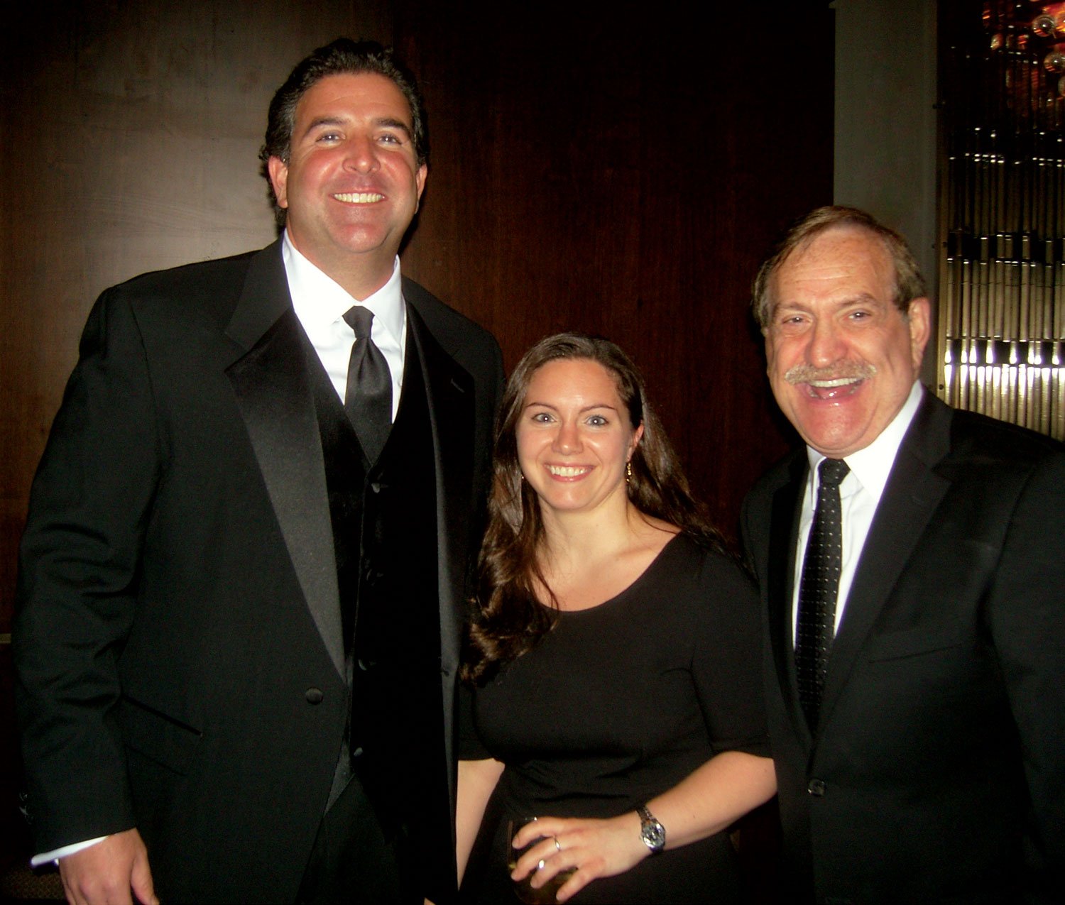 John Rachid, left, Serta; and Andrea Cosentino and Gary Cornblath, both of Macy's, New York.