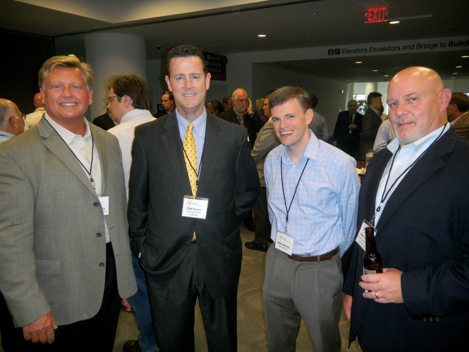 Barry Bailey, left, Bernhardt Furniture; Cliff Pyron, Georgia Ports Authority; Mike Morris, Maersk Line; Mark Setzer, Cargo Consolidation Services.
