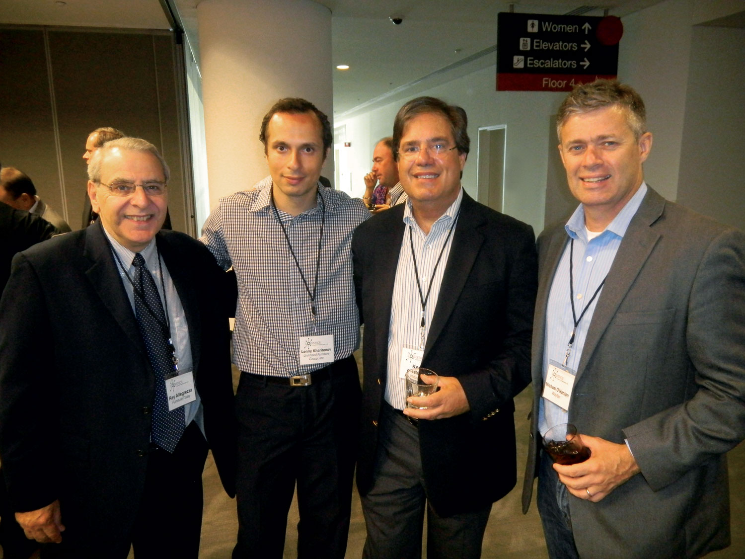 Ray Allegrezza, left, Furniture Today; Lenny Kharitonov, Unlimited Furniture Group, New York; Kevin Castellani, Furniture Today; Mike O'Hanlon, Wayfair, Boston.