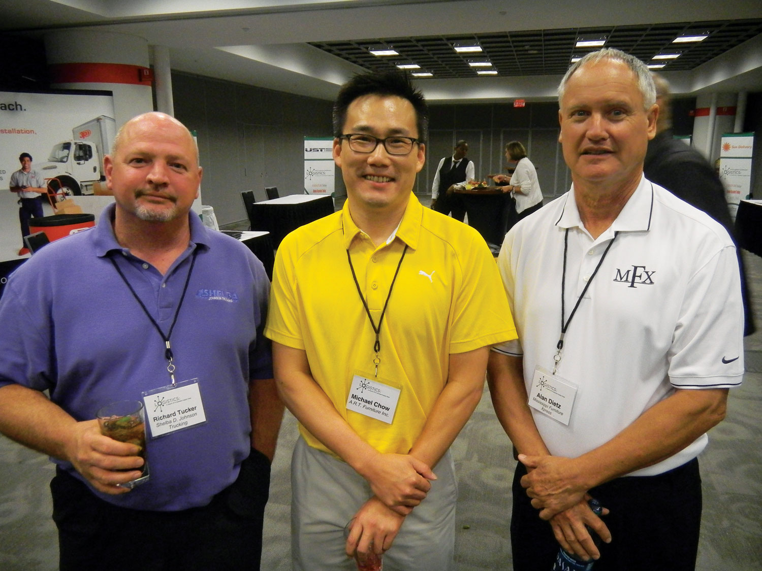 Richard Tucker, left, Shelba D. Johnson Trucking; Michael Chow, A.R.T. Furniture; Alan Dietz, Mississippi Furniture Xpress.
