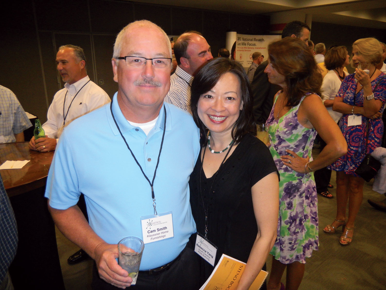 Cam Smith, left, Klaussner Furniture Inds.; Rebecca Yang, South Carolina Ports Authority.