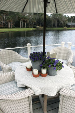 Private dock offers a quiet spot for the couple or a place to entertain guests.