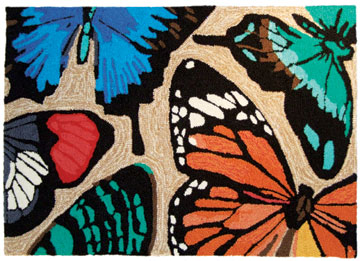 Symbolic of renewal, these butterflies were sporting colors that repeated throughout the market.