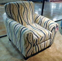 Affordable Furniture Mfg. showed the Streamer chair in Tupelo, retail $299.
