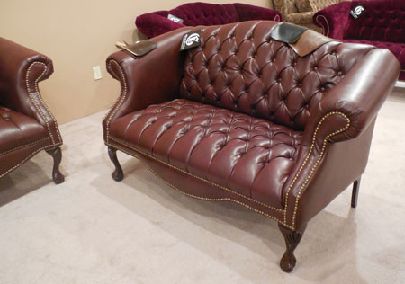 Buyers were interested in this Gillespie sofa for office settings as well as residential.