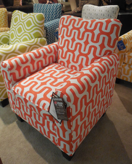 Prime Designs' chair gallery program has six chairs that can be mixed and matched. Retail is $299 per chair.