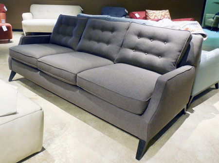 Style Line's 6980 sofa in Hayden antelope highlights modern influences.