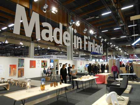 Finnish companies were promoted in the Made in Finland section of Habitare.