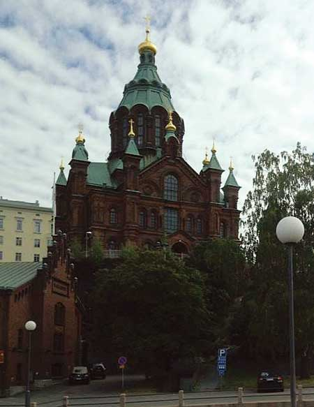 Helsinki's Uspenski Orthodox cathedral is one of the city's iconic landmarks and highlights Russian-influenced architecture.