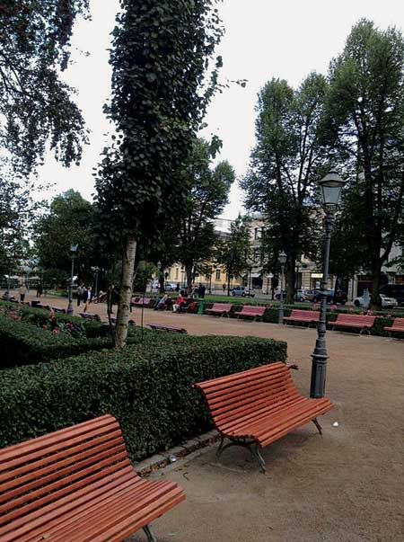 Public spaces in the middle of the city nod to Finland's commitment to the preservation of natural surroundings.
