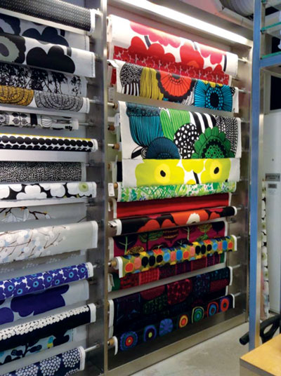 The Marimekko store in downtown Helsinki features many of the textile manufacturer's signature patterns.