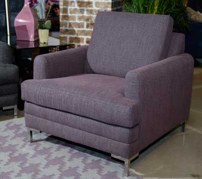 The modern, metallic and purple mix creates a versatile accent in one of Klaussner Home Furnishings' new accent chairs.