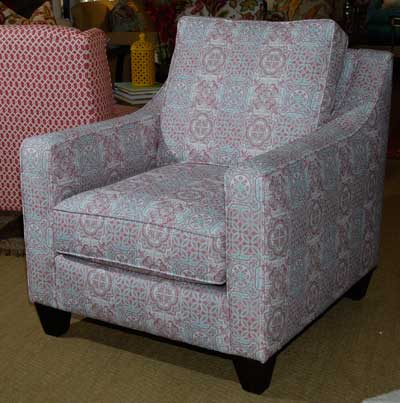 Sklar Peppler/Alan White showcases the design capabilities of digital printing in this accent chair introduction.