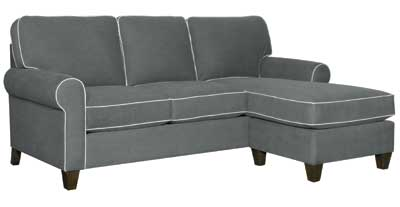 Details matter, and the welting on this HGTV Home sectional adds visual interest. Available in a variety of fabrics, the sectional works well with eclectic decor.