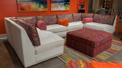 AICO introduced the Sacramento sectional at the October High Point Market as part of the Studio collection. www.amini.com