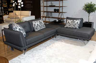 The sleek profile of HTL's sectional in the Domicil collection offers design flexibility and works in a variety of spaces. www.htlinternational.com