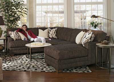 Flexsteel's sectional from the That's My Style collection offers several customization options. www.flexsteel.com