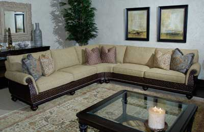 Lexington's Tommy Bahama sectional features distinctive details and a streamlined profile. www.lexington.com