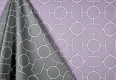 Covington Fabric & Design - Baldwin in Graphite and Lilac