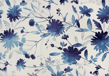 KAS Rugs Reflections Collection indigo florals
