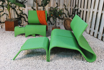Kannoa Maui chair Tropical Green