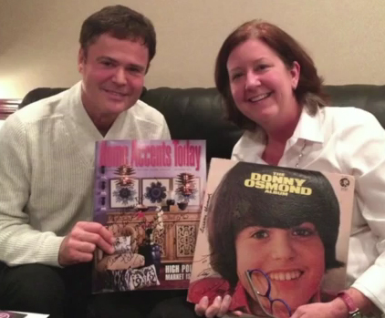 Donny Osmond Video with Susan Dickinson