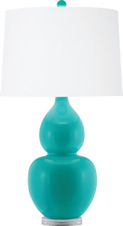 Pacific Coast Lighting Turquoise Double Gourd Lamp