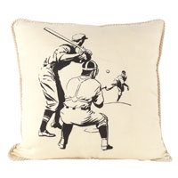 Batter Up pillow from Ox Bow Decor