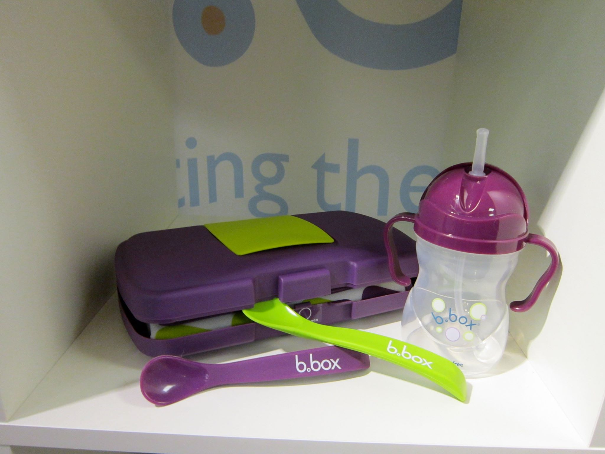 B.box Baby Essentials cup and spoons