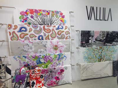 Finland's Vallila Interior attracted attention at Showtime with bright, large-scale designs.