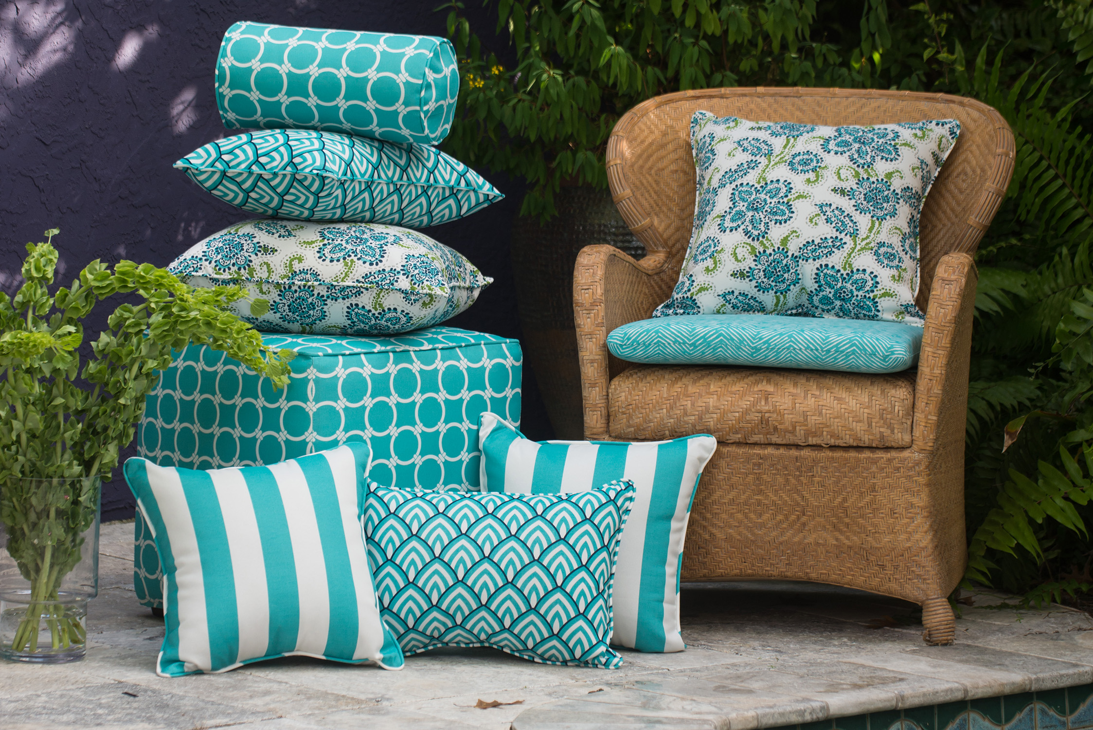 Laurie Bell Aquamarine Collection American-Made Pillows