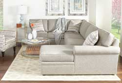 Rowe Furniture's Brentwood sectional and Times Square chair have been added to the company's in-stock program.