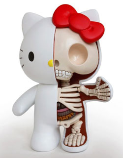 Hello Kitty cutaway sculpture by Jason Freeny