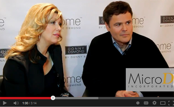 Donny Osmond Shows Home Collection at Vegas
