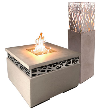 RH Peterson American Fyre Designs Nest Collection Fire Table Lantern