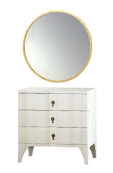Currey & Company: $1,360, mirror. Palu: $1,400, chest.