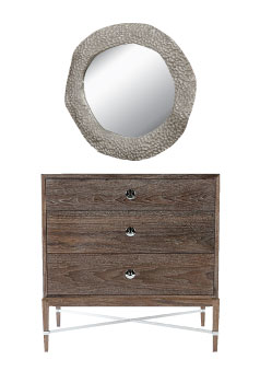 Studio A: $2,499, mirror. Roguewood: $1,525, chest.