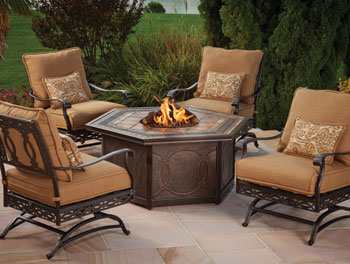 Agio Ashmost Fire Pit Chat Table
