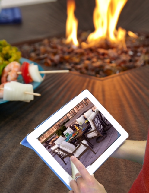 Pride Family Brands' new digital point of sale program allows retailers to play videos of the company's fire pits in action for customers using a smartphone or a tablet.