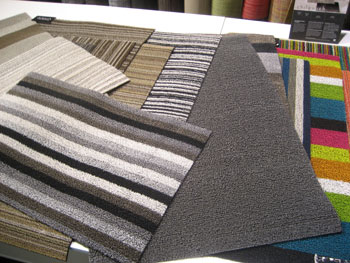 Chilewich's booth in the Loft hall featured new shag indoor/outdoor floor mats, made in the U.S. from tufted vinyl.