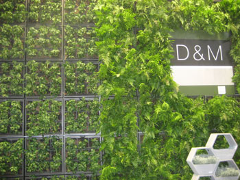 Belgian company D&M's Karoo indoor/outdoor green wall, comprising a series of HDPE planters, makes for eye-catching wall décor.