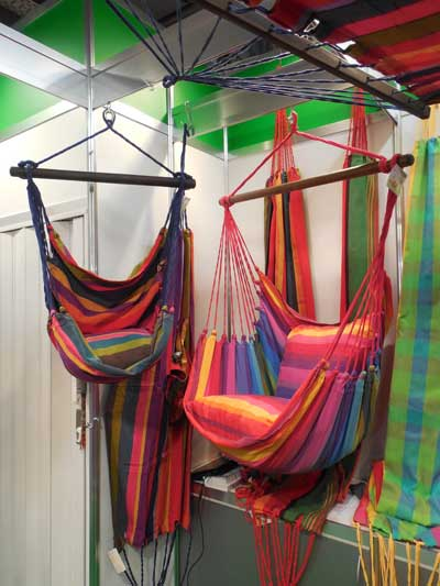 Exporsal S.A. de C.V. showed a collection of hammock-style chairs at Ambiente that retail for $120.