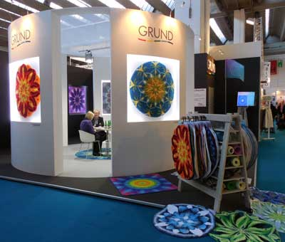 Czech Republic-based Grund introduced the company's line of area rugs at Ambiente.
